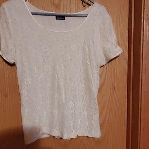 Cream color lace top